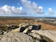 At the top of Carn Brea